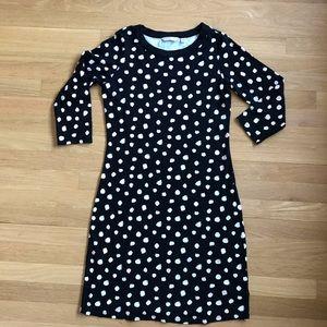 LIZ CLAIBORNE cotton polka dot long sleeved dress